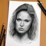 Ronda Rousey Pencil Drawing
