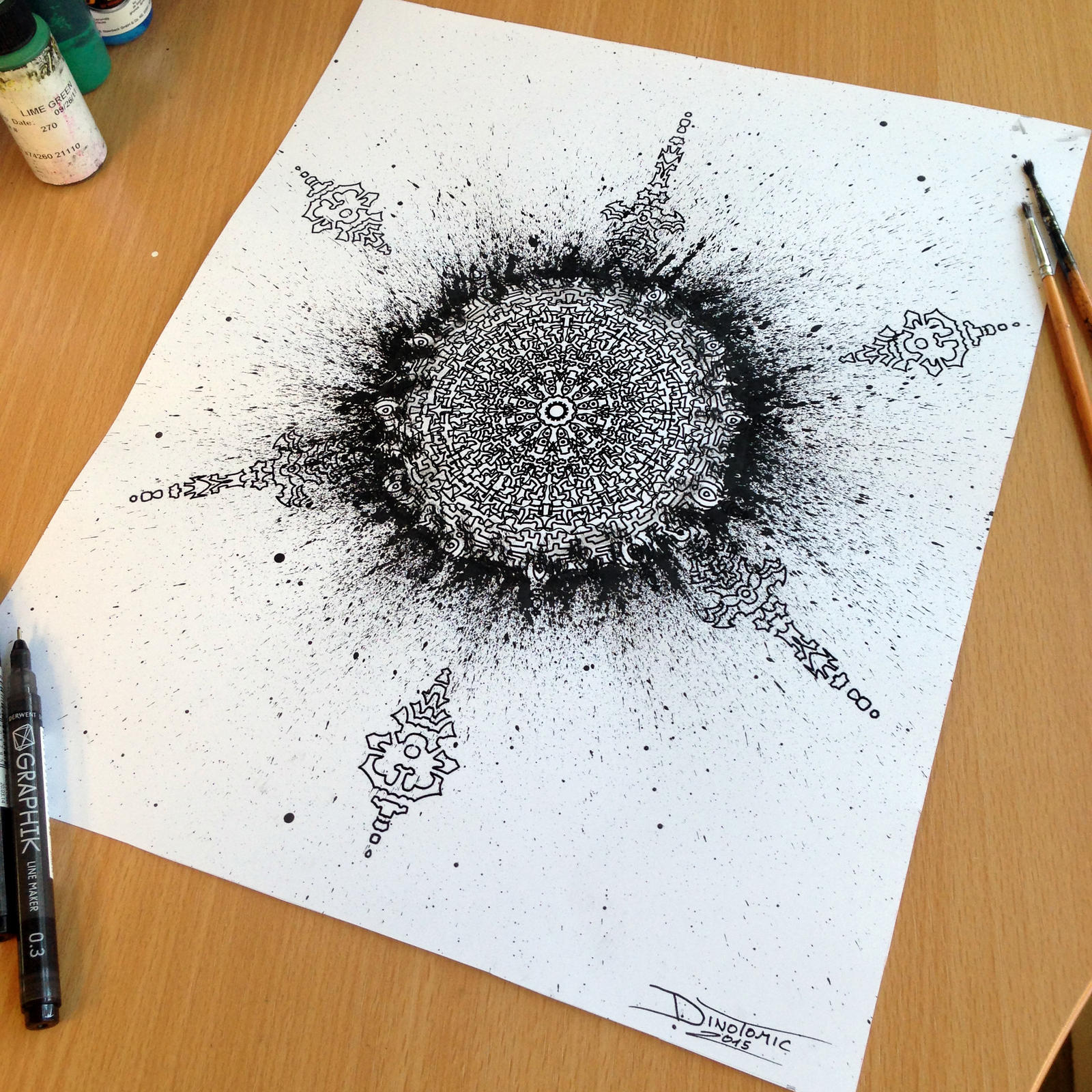 Mandala + Splatter by AtomiccircuS
