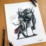 Full Metal Creepy Drawing