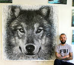 Wolf Large Splatter Painting