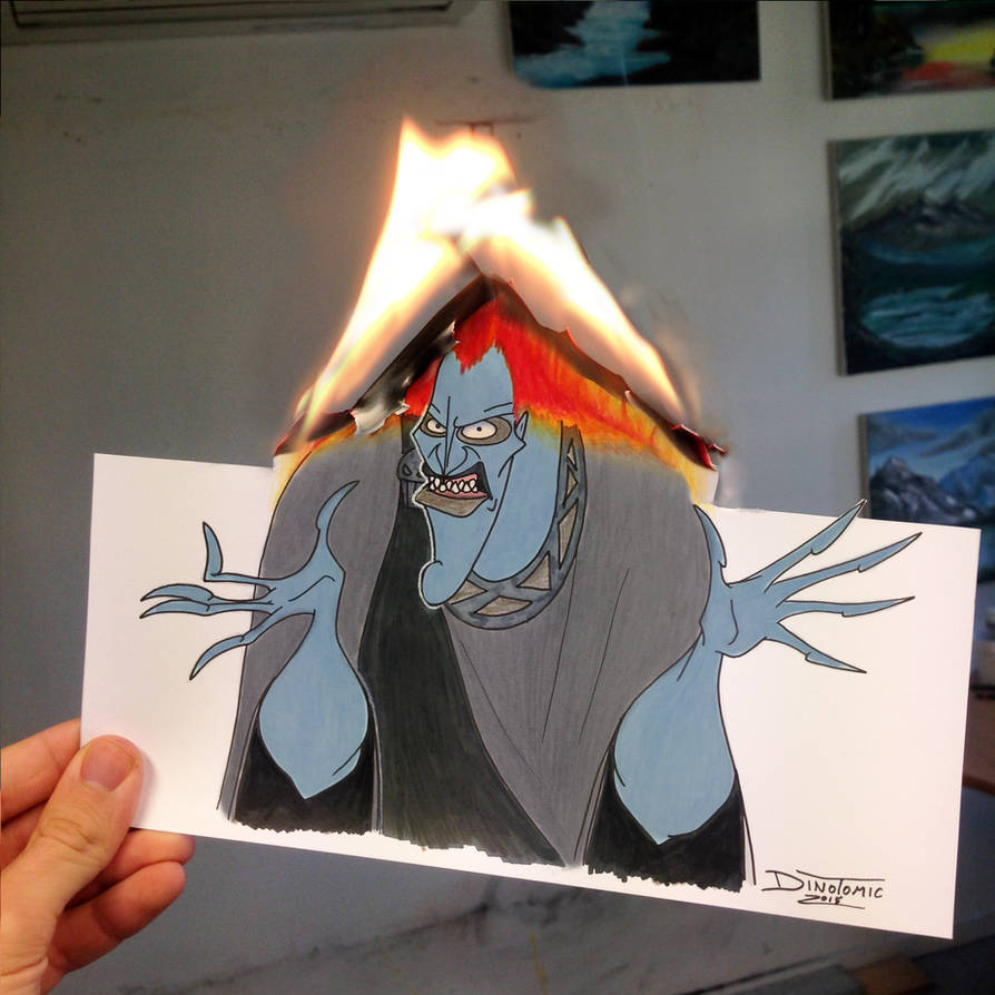 Hades Burning Drawing By Atomiccircus On Deviantart