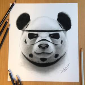 Stormtrooper Panda Drawing
