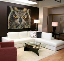 Large Owl Painting for Sale! by AtomiccircuS