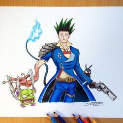 17 Anime Combined into one Pencil Drawing