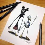Mickey and Donald Creepy