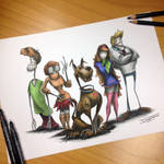 Scooby Doo gang Creepy Drawing