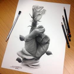 Bloom Pencil Drawing