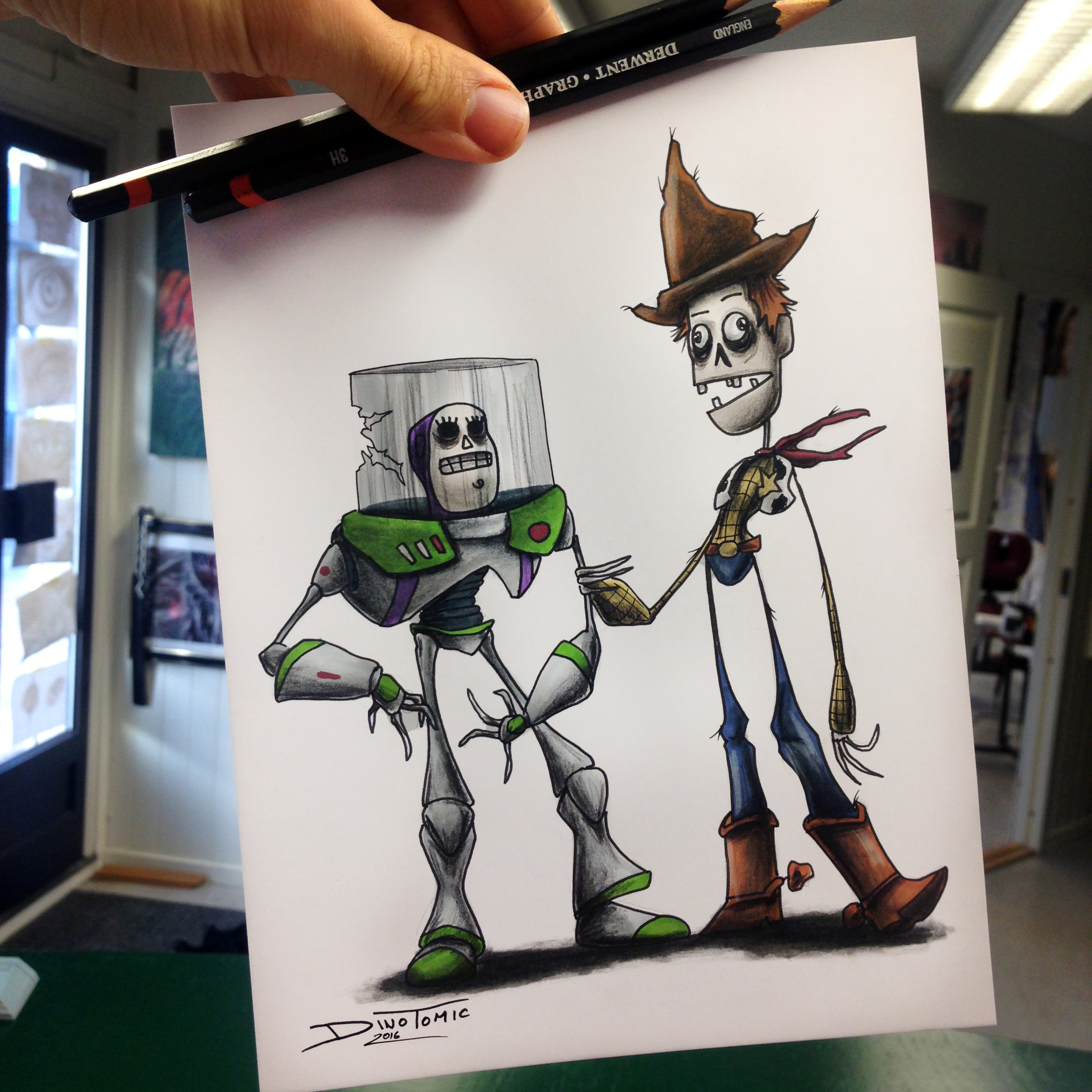 Buzz and Wood Creepyfied by AtomiccircuS on DeviantArt