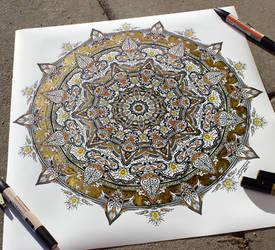 Mandala Drawing by AtomiccircuS