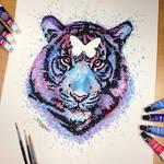 Tiger Splatter Drawing