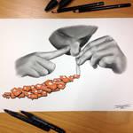 Addiction Pencil Drawing