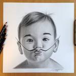 Baby Dali Pencil Drawing