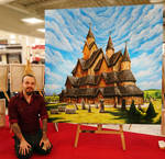 Heddal Stave church painting