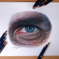 Eye Drawing + Time lapse video by AtomiccircuS