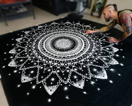 Large Mandala made with Salt