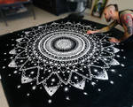 Large Mandala made with Salt by AtomiccircuS