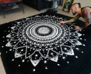 Large Mandala made with Salt