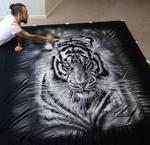 Large Salt Tiger Drawing