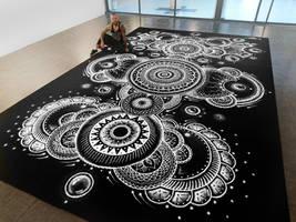 Large Salt Mandala by AtomiccircuS