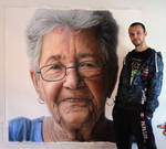 Grandmother Pencil Drawing