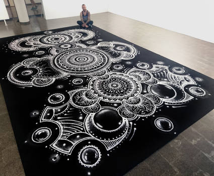 Large Salt mandala 4X6 meters