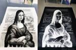 Mona Lisa Perspective Inverted Salt Portrait