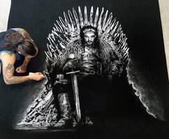 Jon Snow made with Salt by AtomiccircuS