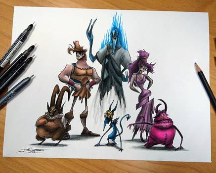 Creepyfied Hercules and gang