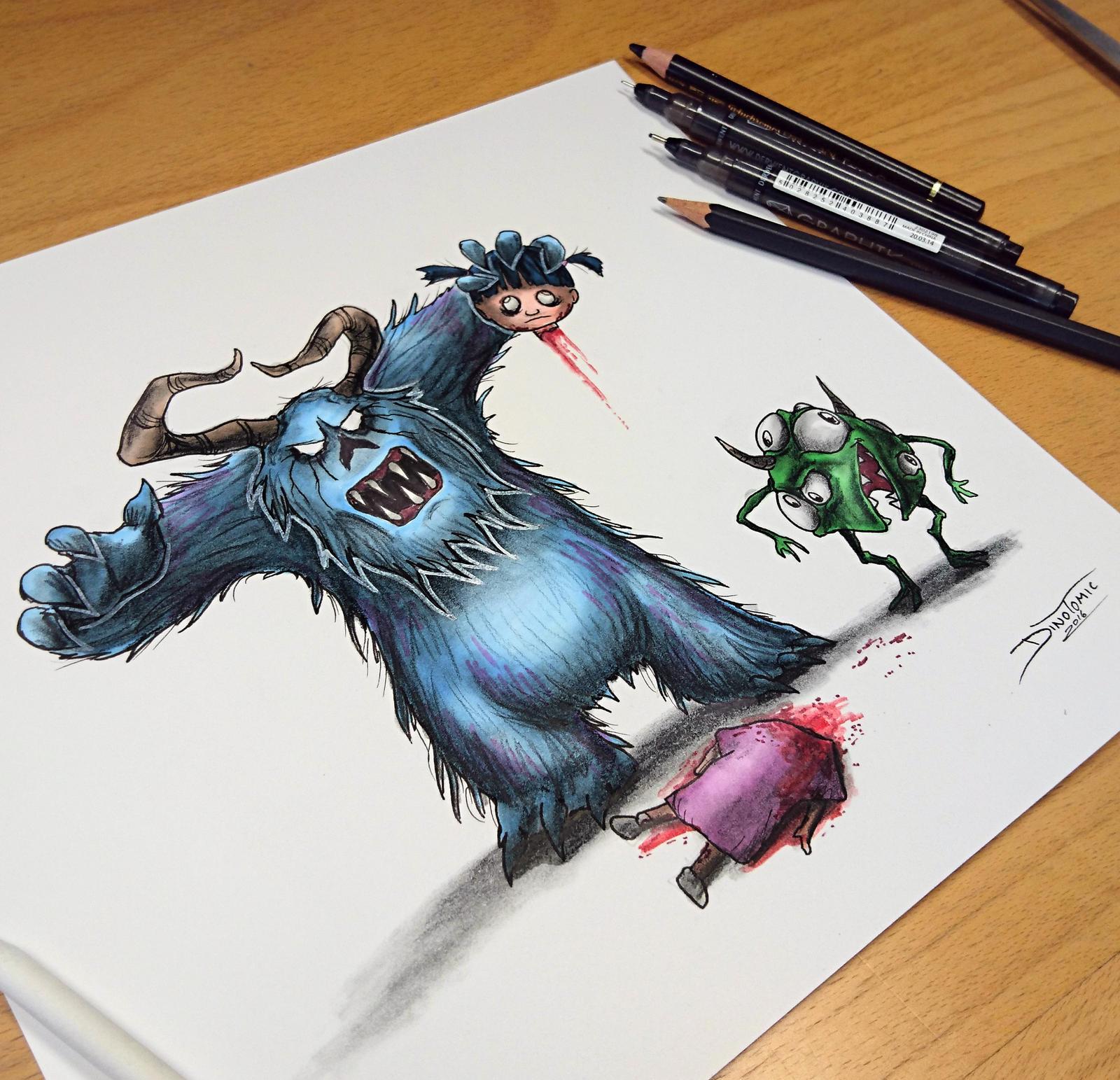Monsters Inc creepyfied