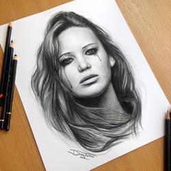 Jennifer Lawrence Pencil Drawing