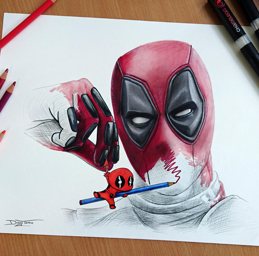 Deadpool Drawing By AtomiccircuS ...