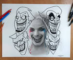 Harley Quinn Pencil Drawing