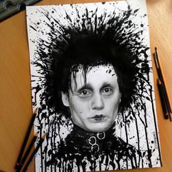 Edward Splatter drawing