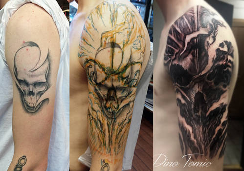 Freehand cover up tattoo from yesterday