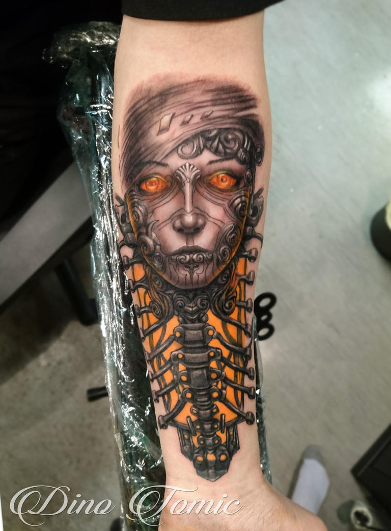 Cyber Lady Tattoo by AtomiccircuS