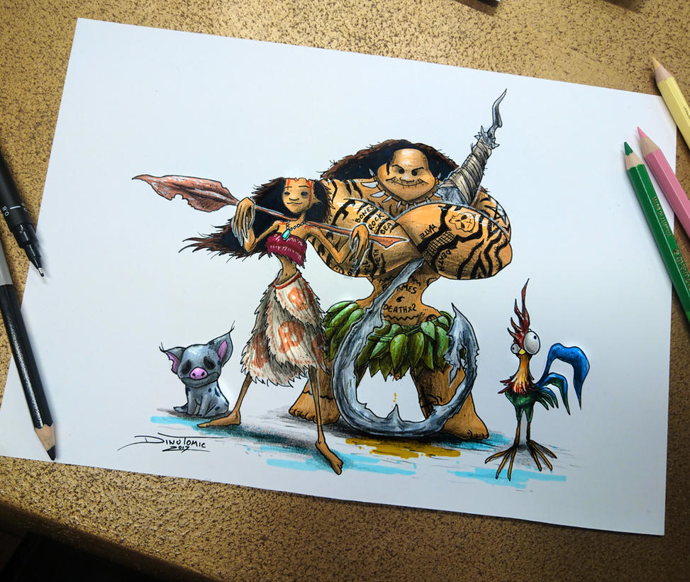 Creepyfied Moana drawing by AtomiccircuS