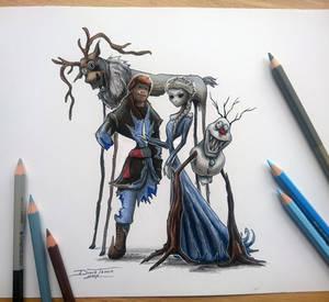 Creepyfied Frozen drawing
