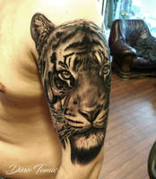 Tiger tattoo by AtomiccircuS