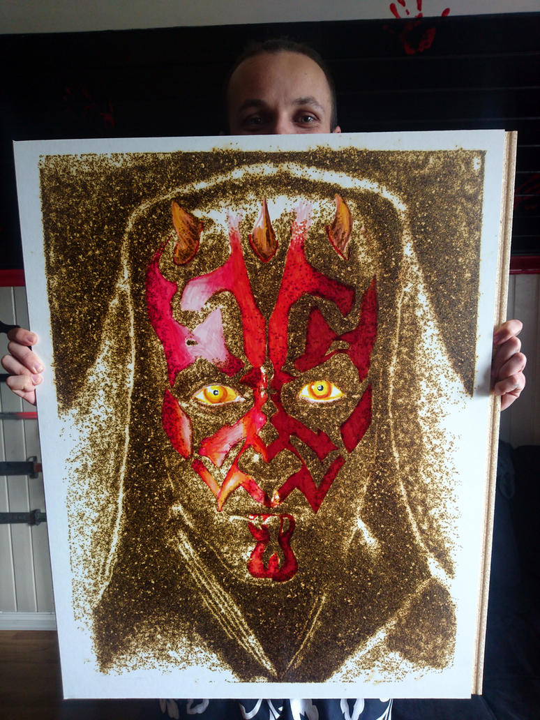 darth maul made with gun powder and markers by AtomiccircuS