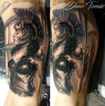 Athena tattoo done in New York