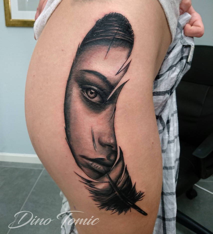 Inside a feather Tattoo by AtomiccircuS