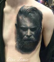 Viking Tattoo Progress by AtomiccircuS