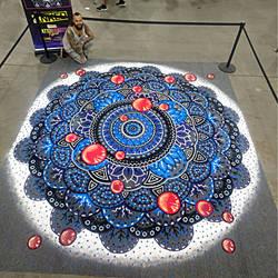 Color Sand Mandala