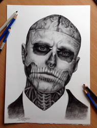 Such sad news! Zombie boy is no longer with us. by AtomiccircuS