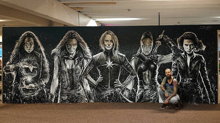 Marvel wall painting =D by AtomiccircuS