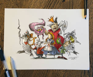 Alice in wonderland by AtomiccircuS