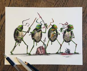 Ninja Turtle creepyfied by AtomiccircuS