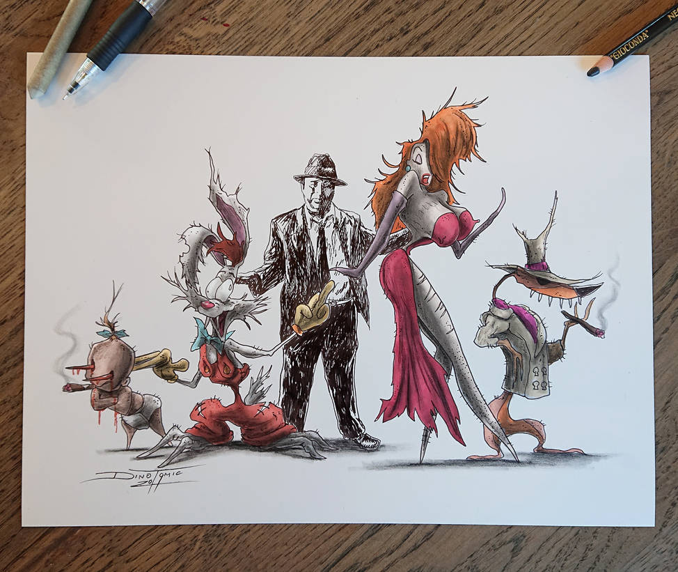 Roger rabbit PRINTS ( and many more ) by AtomiccircuS