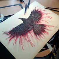 Bloody Crow PRINTS!! available now