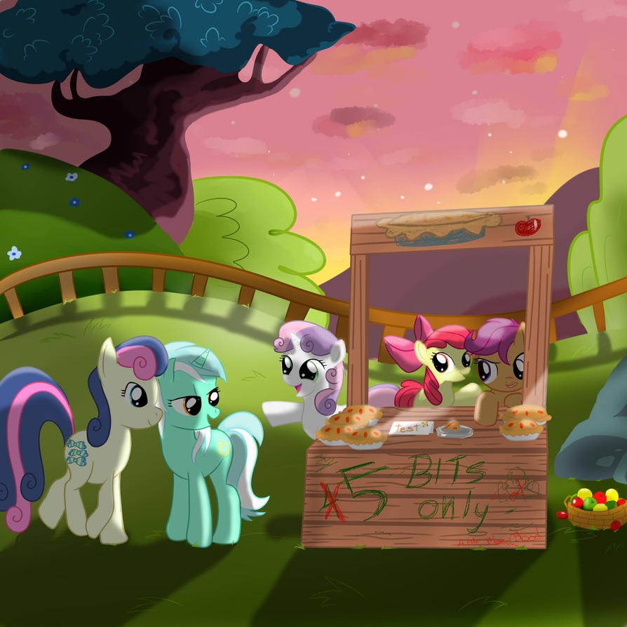 My little pony - The Apple Pie Stand by HelgaButtercup on